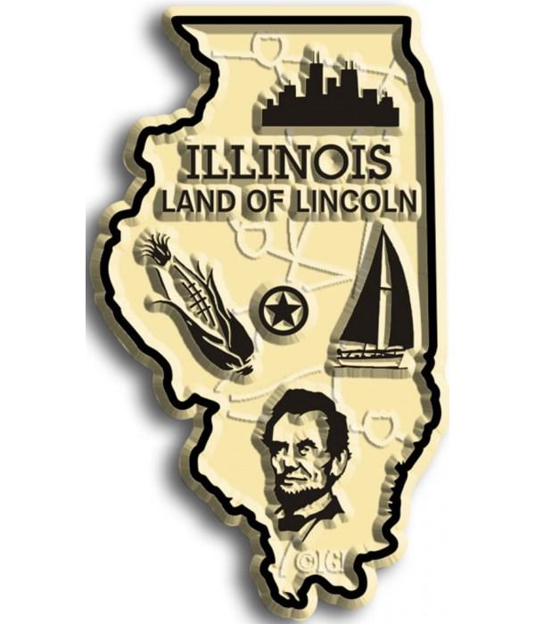 Illinois Map Magnet