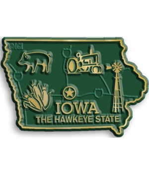 Iowa Map Magnet