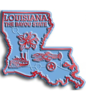Louisiana Map Magnet