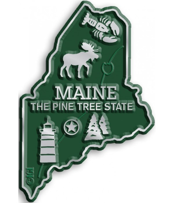 Maine Map Magnet