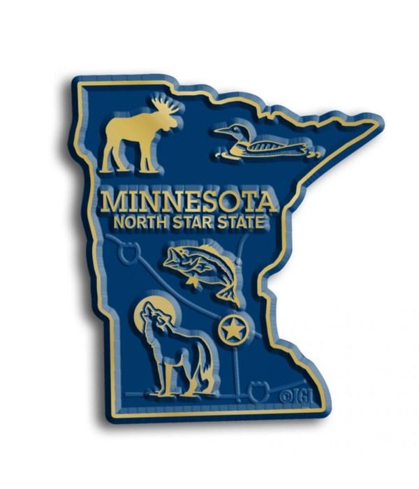 Minnesota Map Magnet
