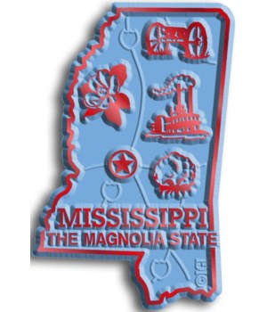Mississippi Map Magnet
