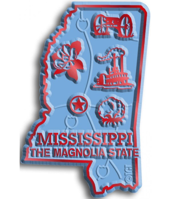 Mississippi Map Magnet