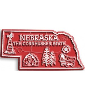 Nebraska Map Magnet