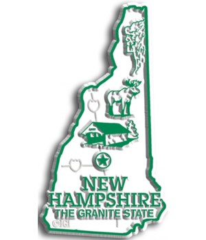 New Hampshire Map Magnet