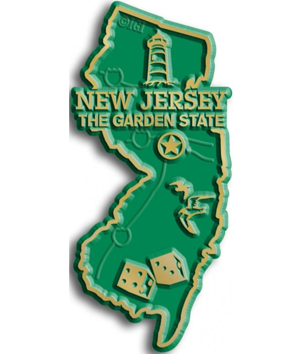 New Jersey Map Magnet