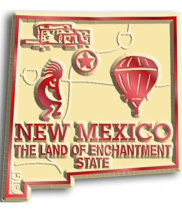 New Mexico Map Magnet