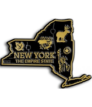 New York Map Magnet