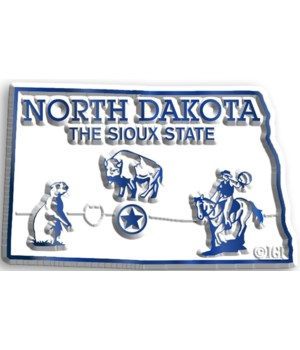 North Dakota Map Magnet