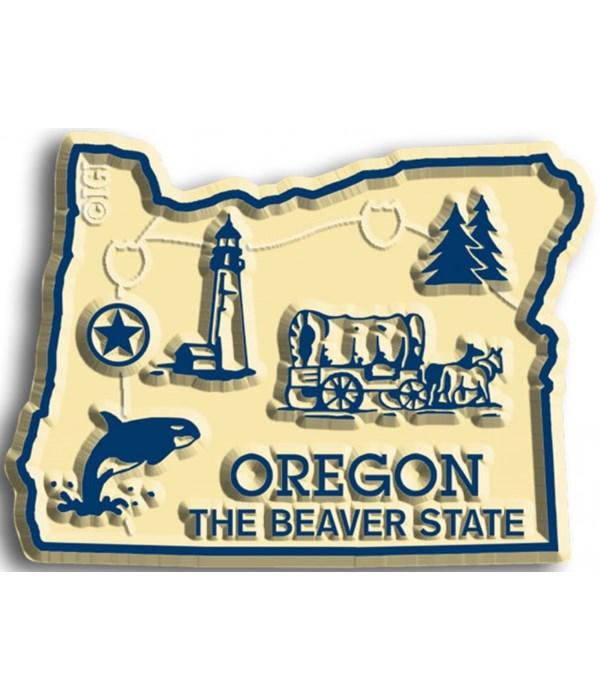 Oregon Map Magnet