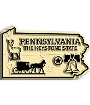 Pennsylvania Map Magnet