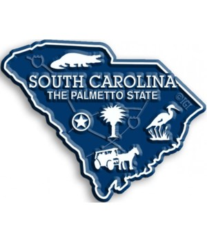 South Carolina Map Magnet