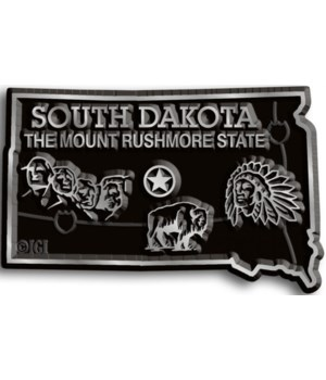 South Dakota Map Magnet