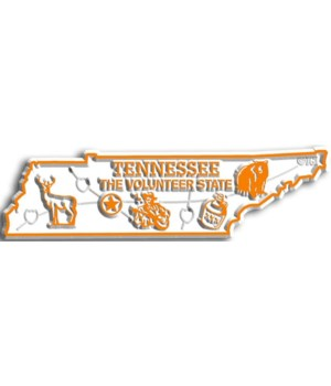 Tennessee Map Magnet