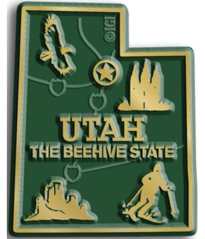Utah Map Magnet