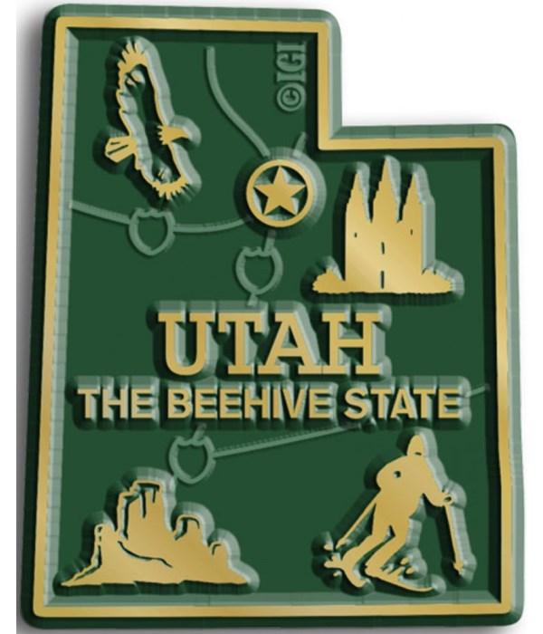 Utah Map Magnet