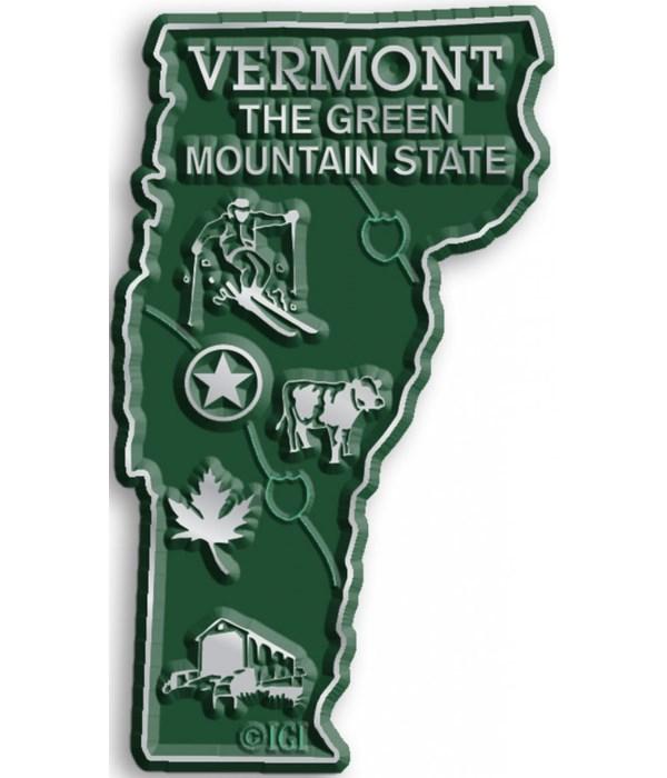 Vermont Map Magnet