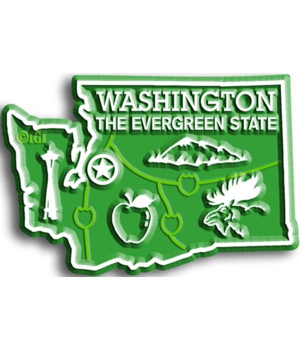 Washington Map Magnet