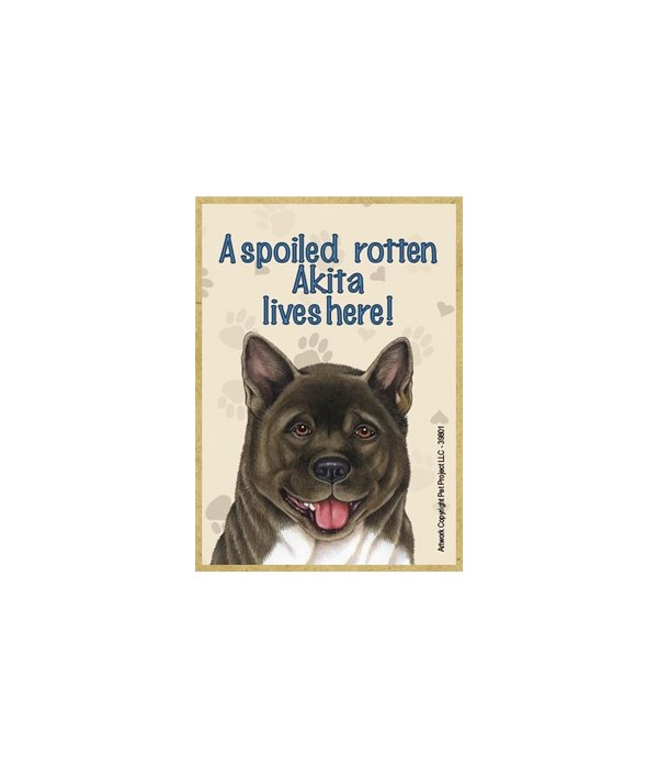 A spoiled rotten Akita lives here! Magne