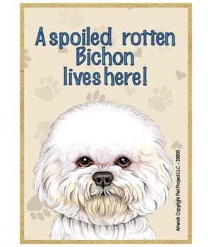A spoiled rotten Bichon lives here! Magn