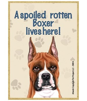 A spoiled rotten Boxer lives here! Magne
