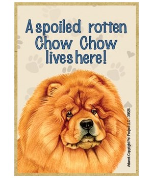 A spoiled rotten Chow chow lives here! M