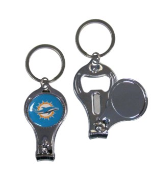 3IN1 KEYCHAIN - MIAMI DOLPHINS