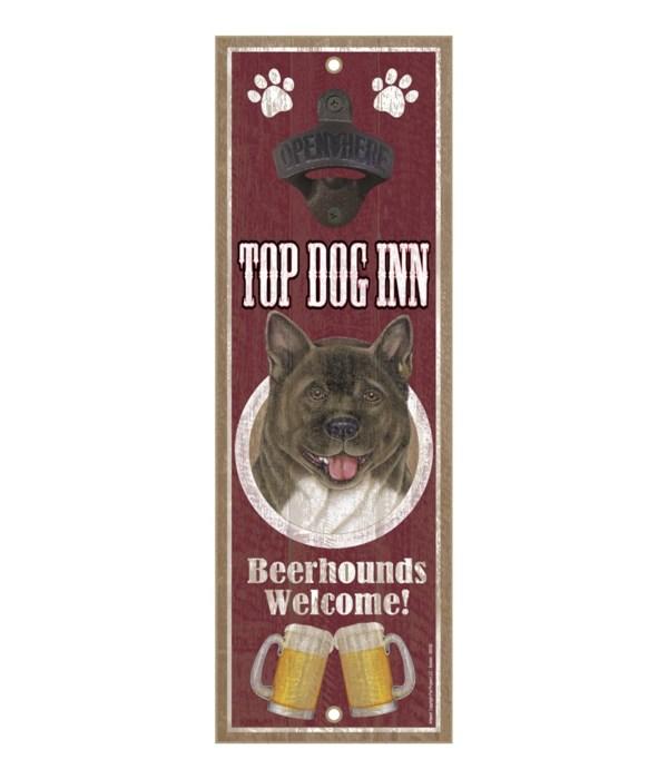 Top Dog Inn Beerhounds Welcome! Akita