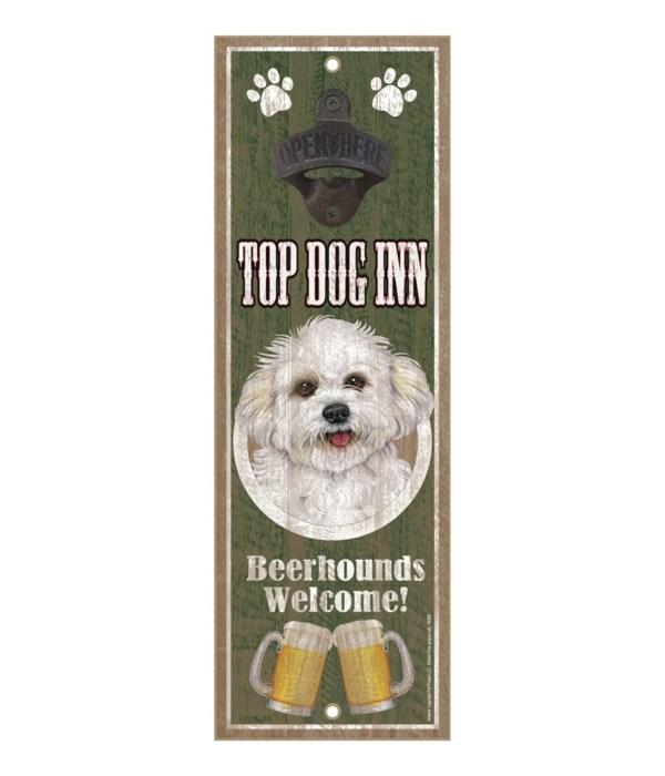 Top Dog Inn Beerhounds Welcome! Bichon F