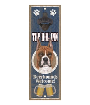Top Dog Inn Beerhounds Welcome! Boxer