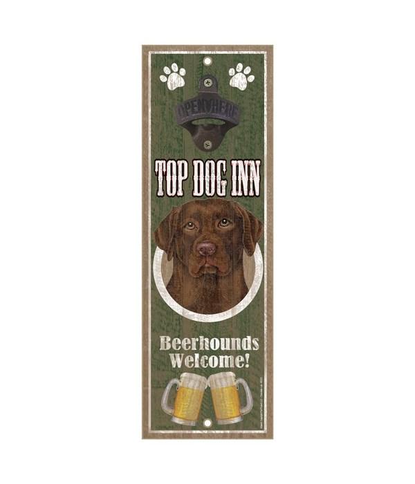 Top Dog Inn Beerhounds Welcome! Chocolat