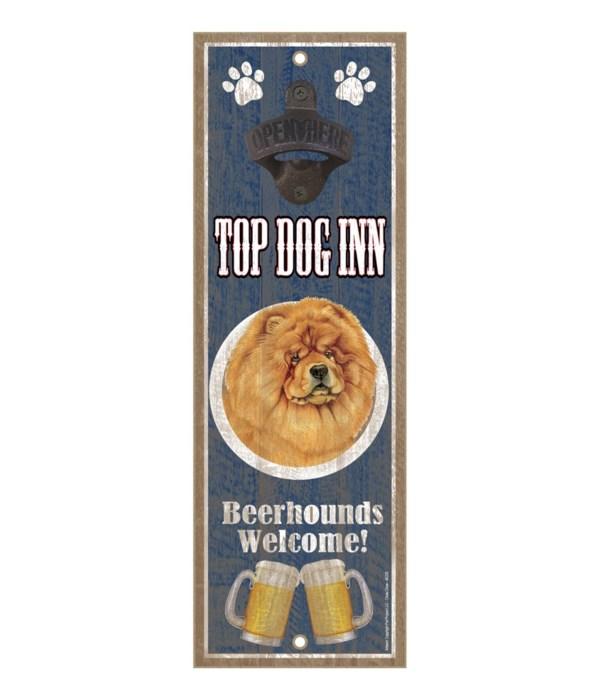 Top Dog Inn Beerhounds Welcome! Chow cho