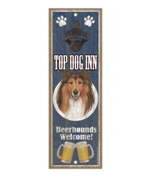 Top Dog Inn Beerhounds Welcome! Collie