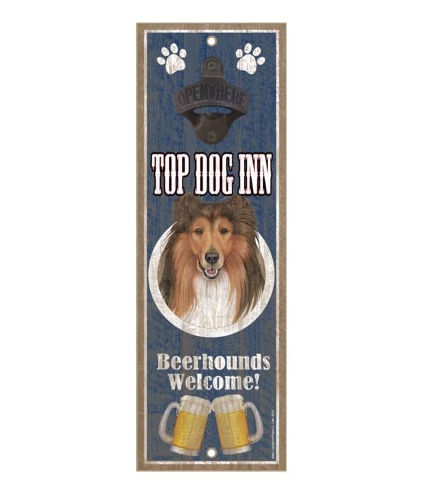 Top Dog Inn Beerhounds Welcome! Collie