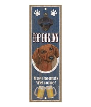 Top Dog Inn Beerhounds Welcome! Dachshun