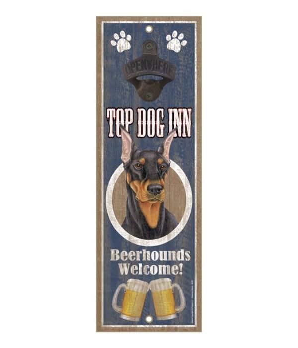 Top Dog Inn Beerhounds Welcome! Doberman