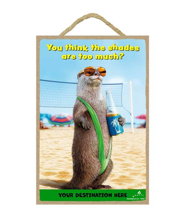 Otter Mankini - You Think the shades are too much? Magnet