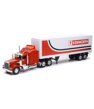 KW-W900 Red w/Red & Wht KW trailer 1:32