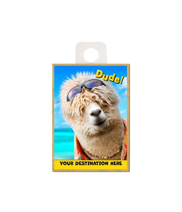 Surfer Alpaca - Dude! Magnet