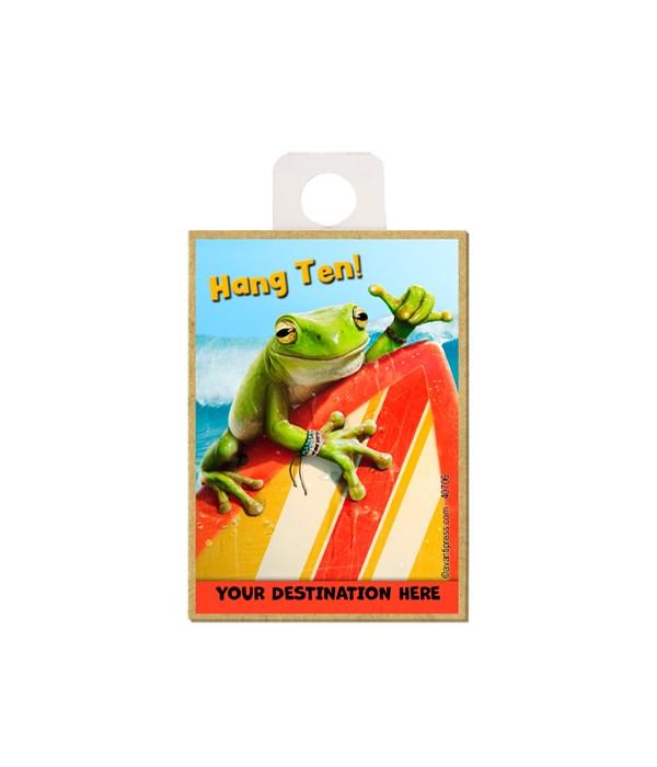 Frog Surfer - Hang Ten! Magnet
