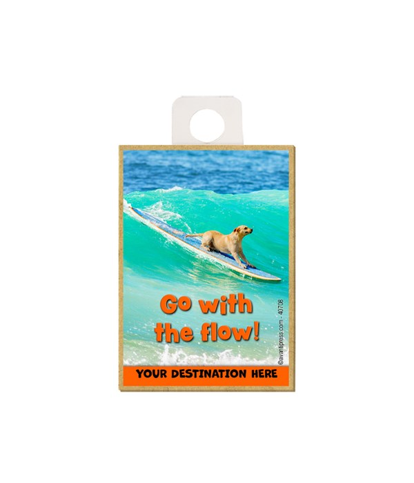 Surfing Lab - Go with the flow! Magnet