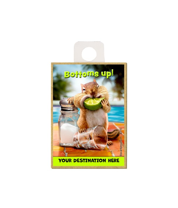Chipmunk with Lime - Bottoms up! Magnet