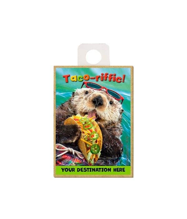 Otter Eats Tacos - Taco-riffic Magnet
