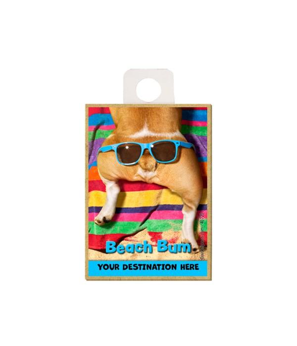 Glasses on Dog Butt - Beach Bum Magnet