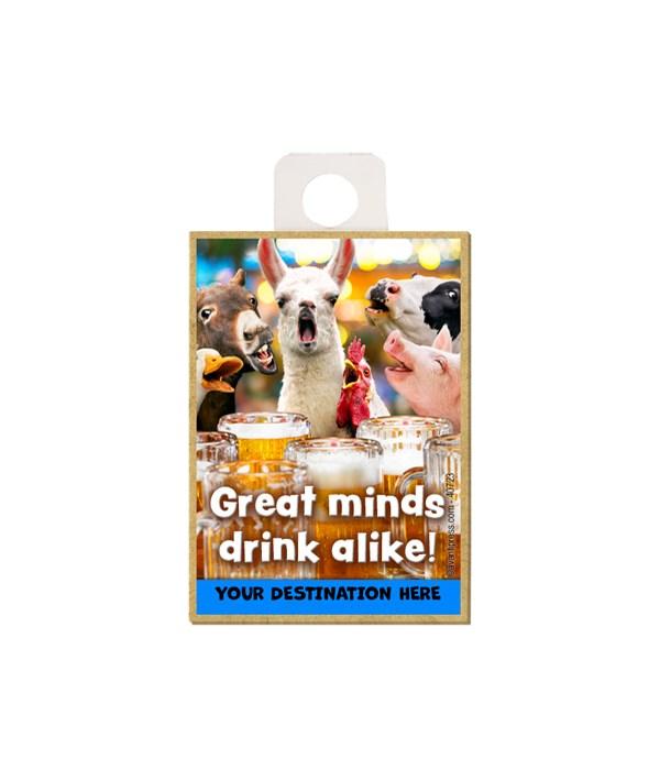 Barnyard Animals at bar - Great minds drink alike! Magnet