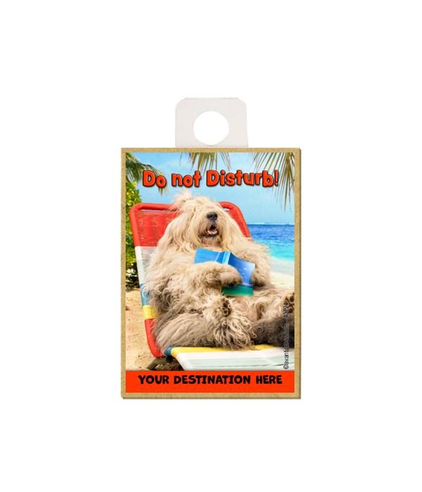 Lounging Sheepdog - Do not disturb! Magnet