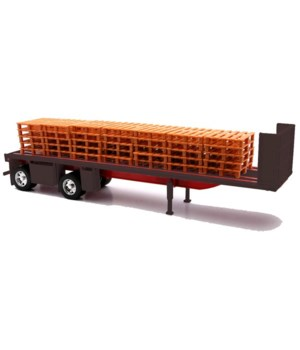 Flatbed w/crates trailer 1:32 WB