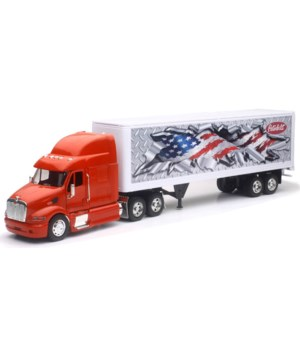 PB 387 Red cab with Flag trailer 1:32 WB