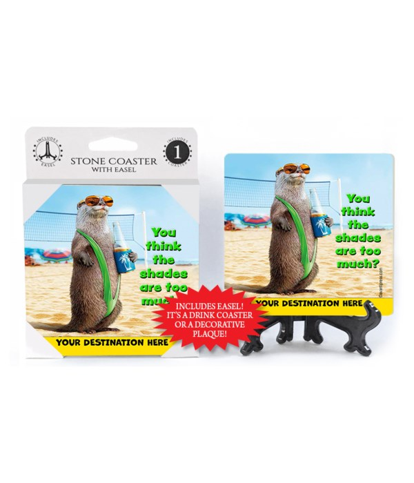 Otter Mankini - You Think the shades are too much? 1PK Coaster