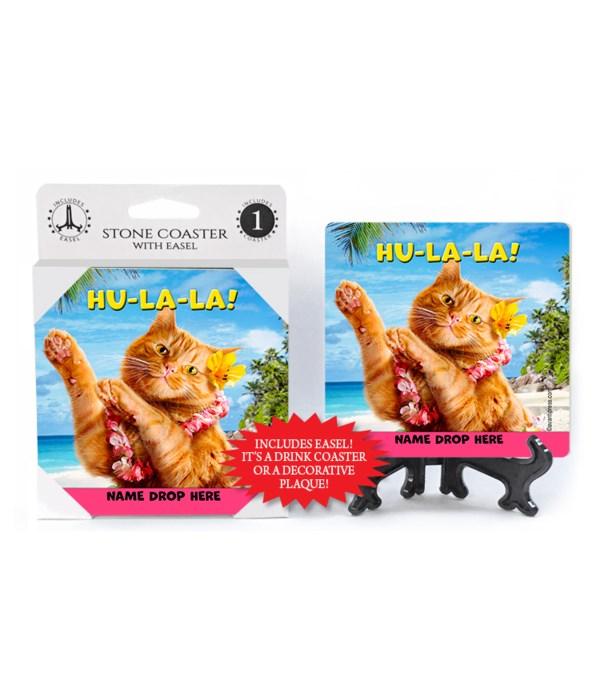 Hula Cat - Hu-La-La! 1PK Coaster